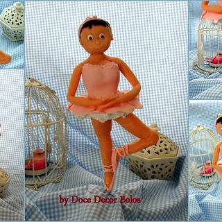 Ballet dancer cake topper