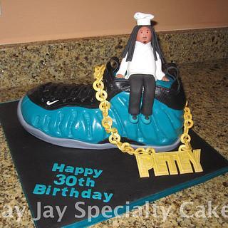 Chef Petey Nike Foamposite Cake