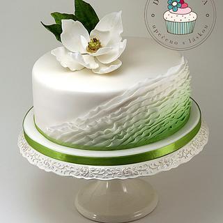 Magnolia Ruffle Cake