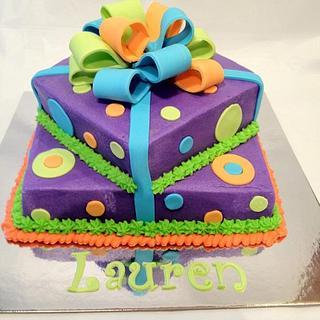Bright Gift Box - Cake by Dawn Henderson