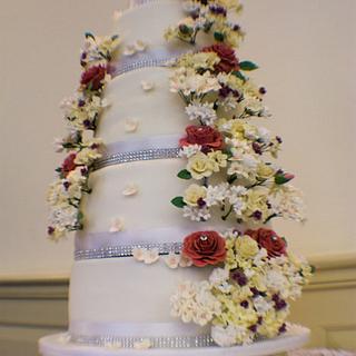 10 Tier Wedding Cake - Cake by chezza79