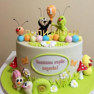 1 birthday cake for twins - Cake by KamiSpasova