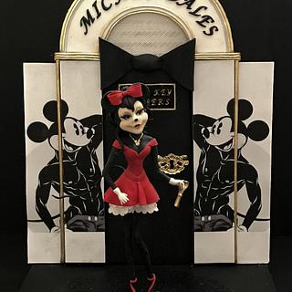 Minnie A Girls Night Out - Disney Deviant Sugar Art Collaboration