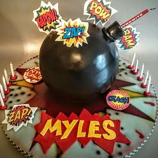 Boom! Bomb 💣 cake  - Cake by karen mitchell
