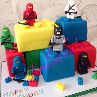 Lego ninjas cake