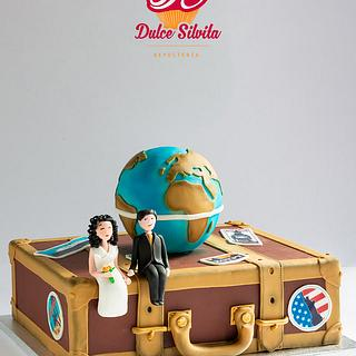 Wedding Cake for a traveling couple