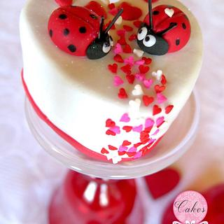 Love bugs  - Cake by Cakes Inspired by me