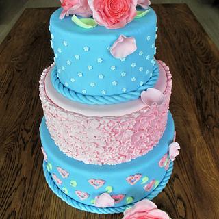 Bridal cake, roses - Cake by hetzoetepaleis
