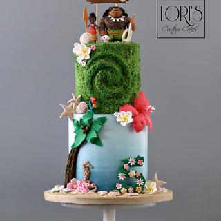 Moana theme cake  - Cake by Lori Mahoney (Lori's Custom Cakes)