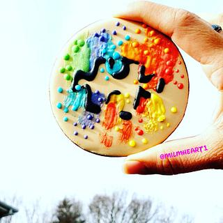 Autism cookie ❤🧡💛💚💙💜 - Cake by Milmheart