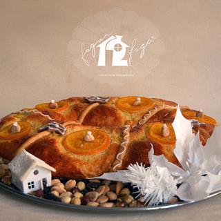 Roscón de reyes - Cake by Daniel Diéguez