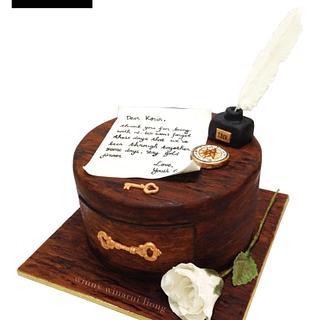 Victorian Wooden Drawer Cake