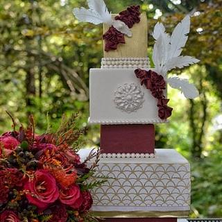 Art Deco / Gatsby Inspired Wedding Cake