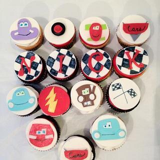 Cars Cupcakes - Cake by Dawn Henderson