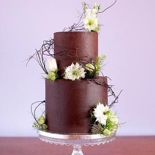 Chocolate lover's wedding cake - Cake by Kasserina Cakes