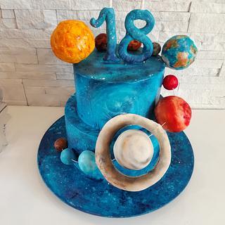 Galaxy cake - Cake by Milena Nikolic