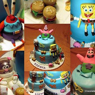SpongeBob and Friends - Cake by Cathy