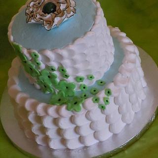 Petal Effect Wedding Cake
