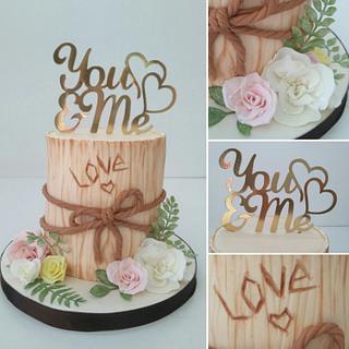 Romantic anniversary cake  - Cake by Artym