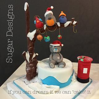 Gravity Christmas Cake - Cake by Sugar Designs
