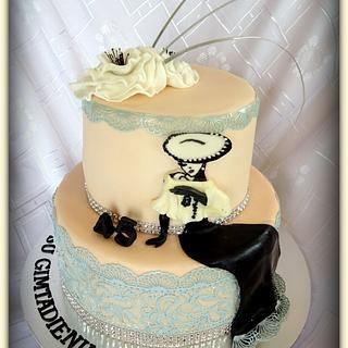 little bit of glamour.. - Cake by Divia