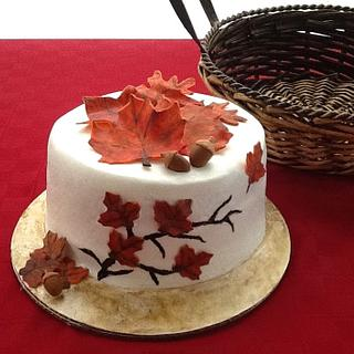Autumn Leaves Cake - Cake by Sugar Me Cupcakes