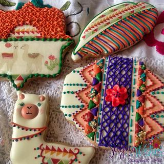 South American Themed cookies