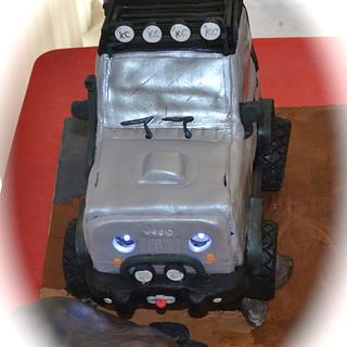 3D Jeep Cake w/ working headlights!