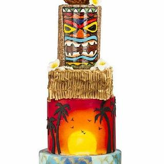 Hawaiian themed wedding cake  - Cake by Priyanka kundu and Pooja sardana