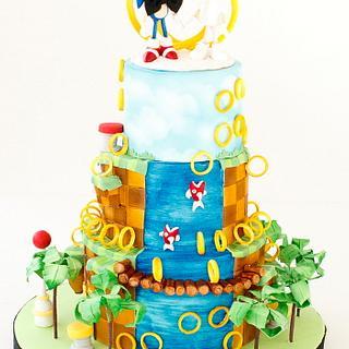 Sonic the Hedgehog wedding cake