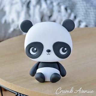 Cute Panda Cake Topper