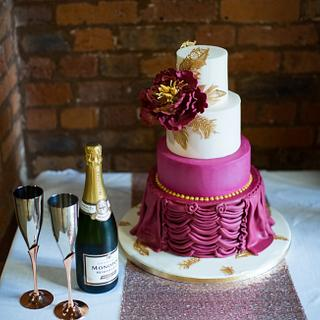Wedding cake for a photo shoot