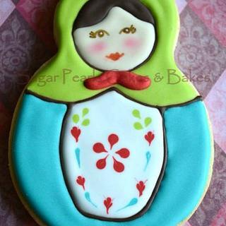 Nesting dolls/Matryoshka dolls cookies