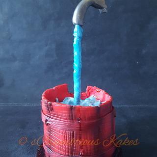 Gravity Defying Tap Cake