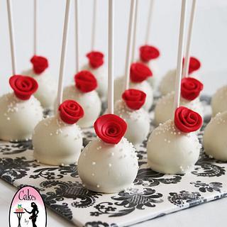 Elegant cake-pops