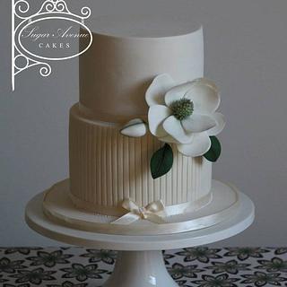 Elegant Magnolia  - Cake by Sugar Avenue Cakes