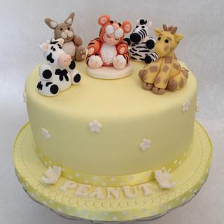 Cute Sleepy Dressed Up Baby - Cake by Steph Walters