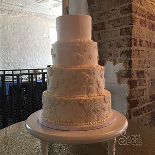 Lace Mold Wedding cake - Cake by Sweet Scene Cakes