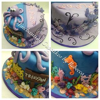 Butterflies under the sea - Cake by Enchanting Cupcakes hobby cakes