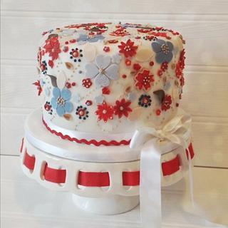 Liberty print inspired cake