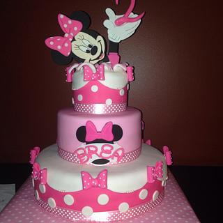 Minnie Birthday Surprise! - Cake by Sugared Tiers
