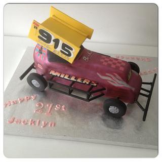 3D Stock Car Cake