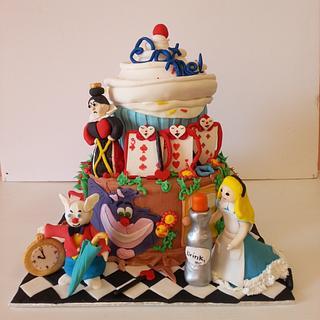 Alice in Wonderland - Cake by Eva Christina Cakes