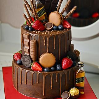 Natural Ganache drip cake