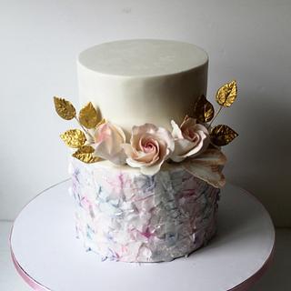 Boho chic birthday cake