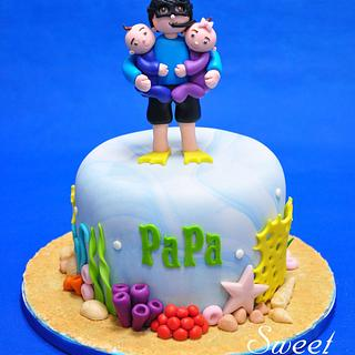 Scuba Diving Cake - Cake by Sweet Success