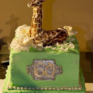Giraffe, gardenia and pearls