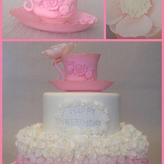 Pretty in Pink birthday cake
