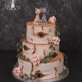 Birch tree cake - Cake by Twister Cake Art