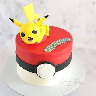 Pokémon Ball Cake